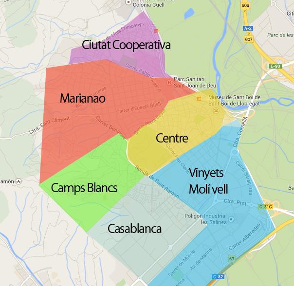 Mapa barris sant boi